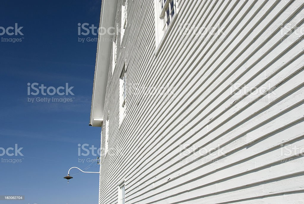 White Barn stock photo