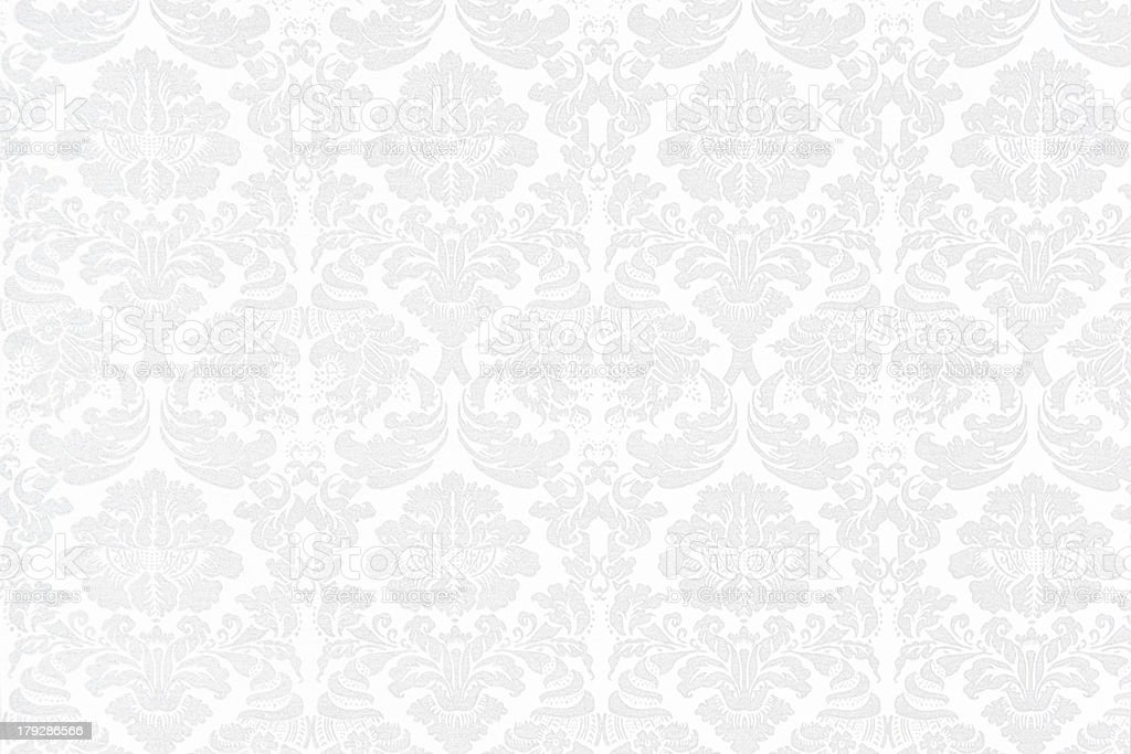 White Baroque Background stock photo