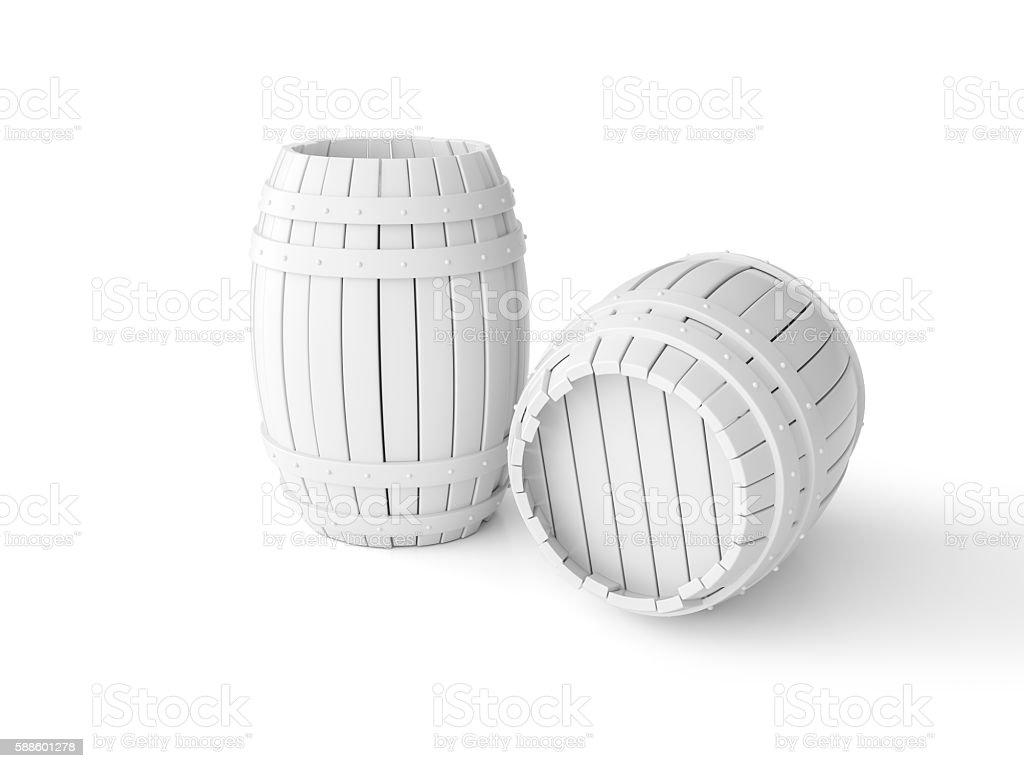 White Barrel stock photo