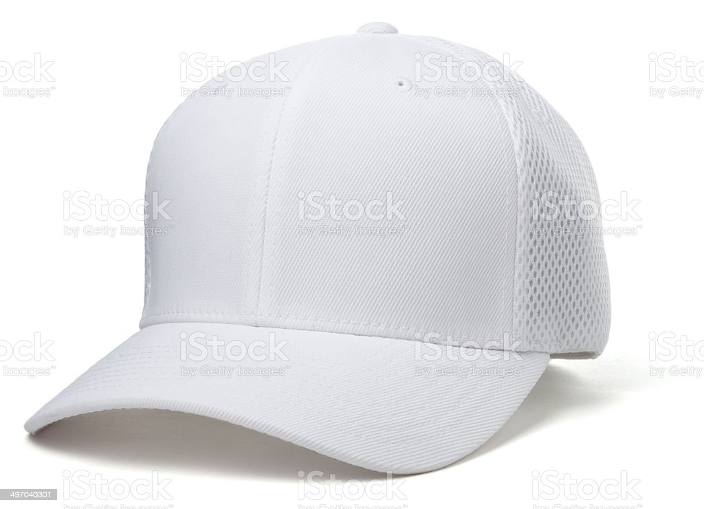 White Baseball Hat stock photo