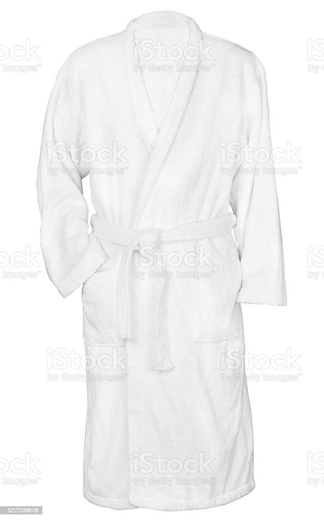 white bathrobe bathrobe. stock photo