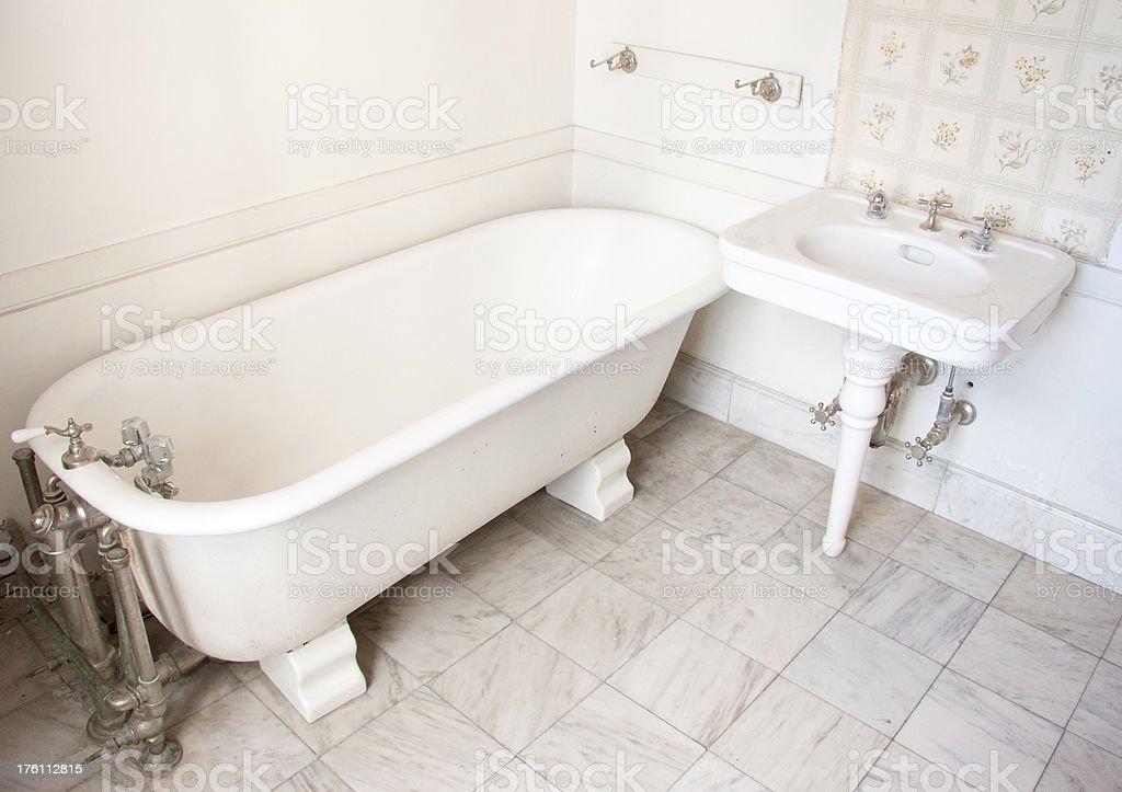 White Bathroom royalty-free stock photo