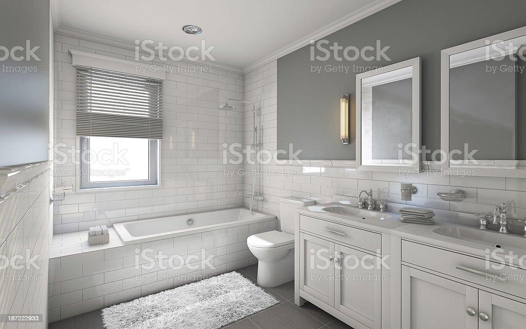 White Bathroom stock photo