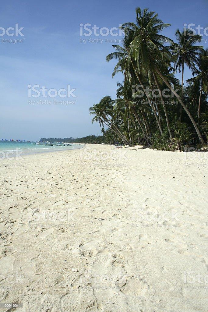 white beach blue sky boracay island philippines royalty-free stock photo