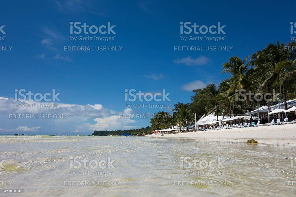 White beach of Boracay Phillipines royalty-free stock photo