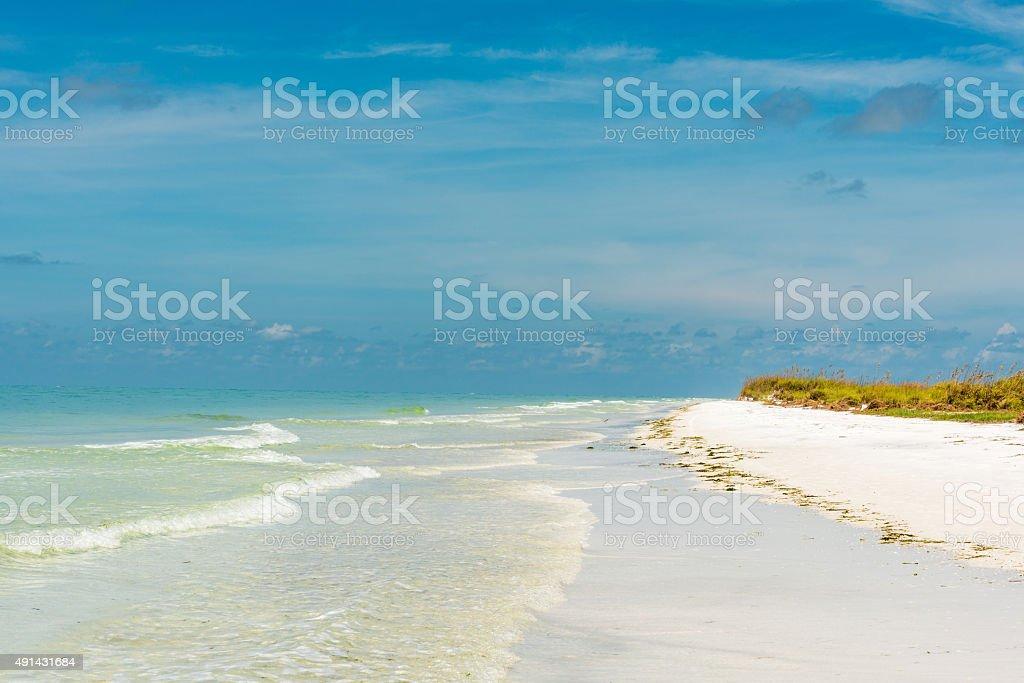white beach on Anna Maria Island stock photo