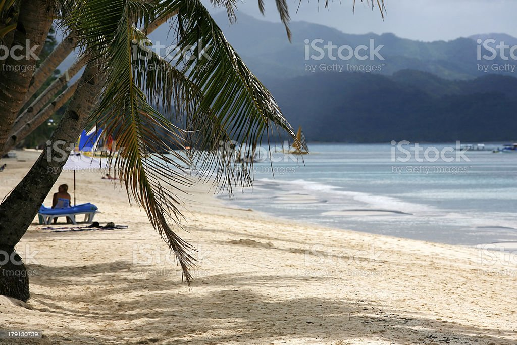 White beach royalty-free stock photo