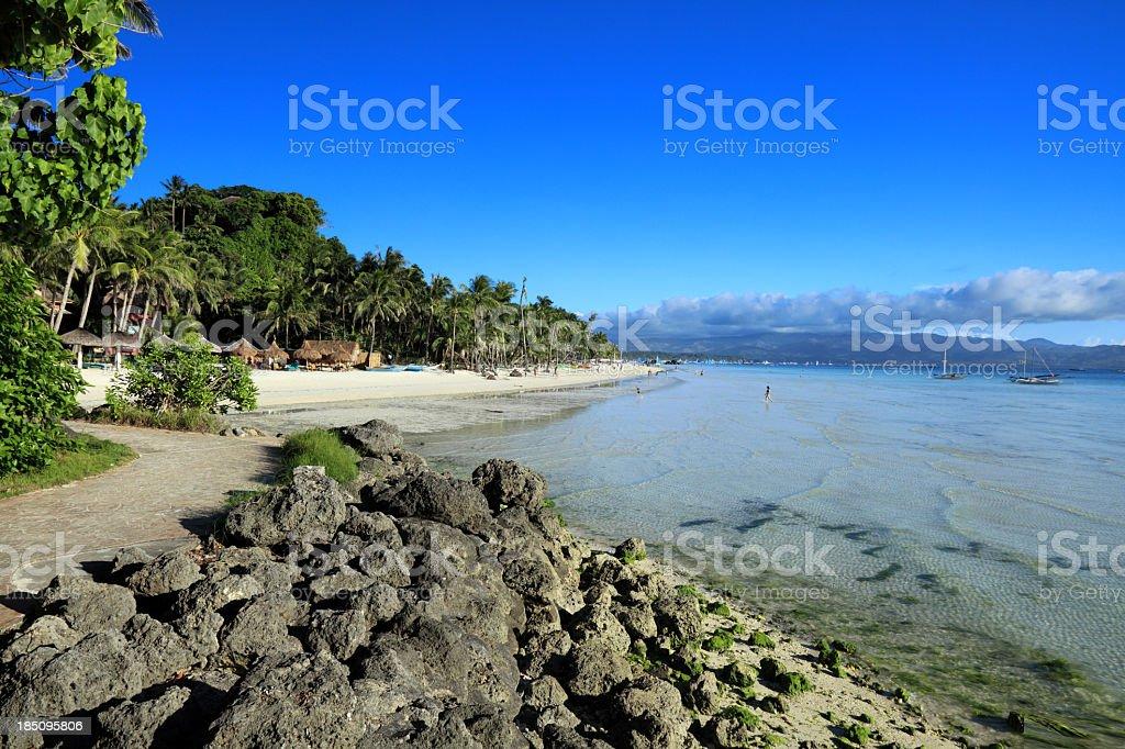 White beach royalty-free stock photo