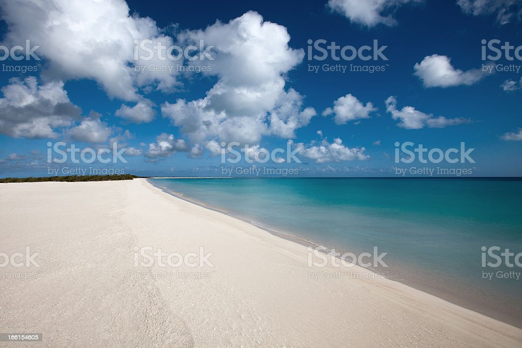 White Beach Sands of Antigua royalty-free stock photo