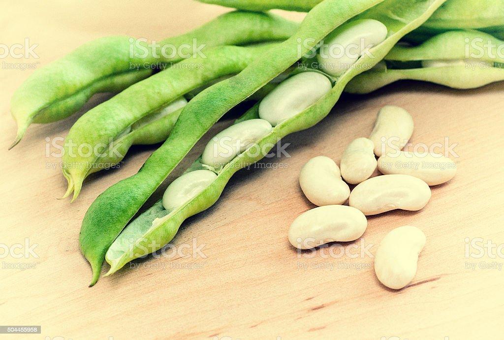 White beans stock photo
