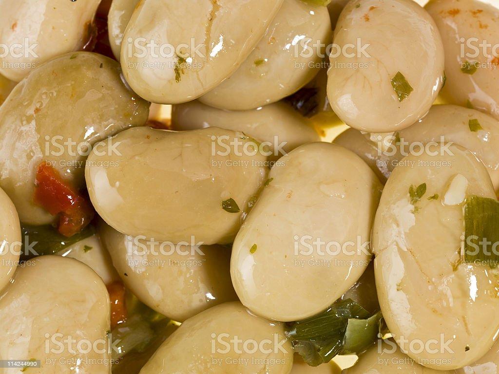 white beans salad background stock photo