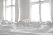 White bed linen