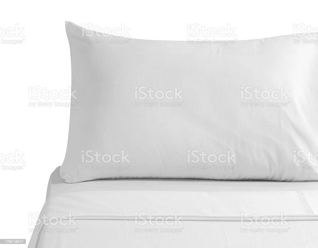 White bedding. stock photo