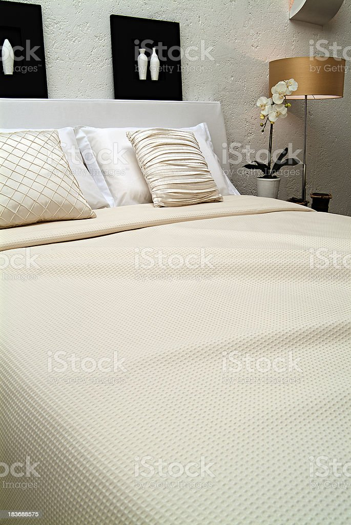 white bedroom royalty-free stock photo
