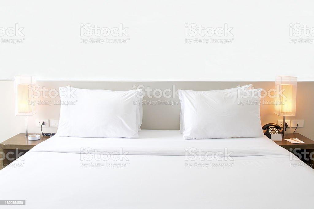 White bedroom royalty-free stock photo