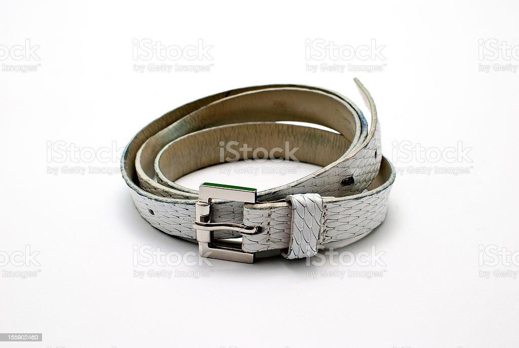 white belt royalty-free stock photo