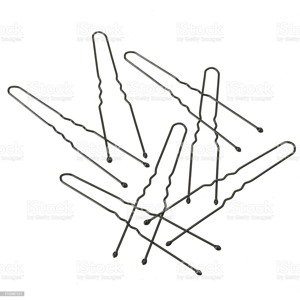 White BG-Bobby Pins stock photo