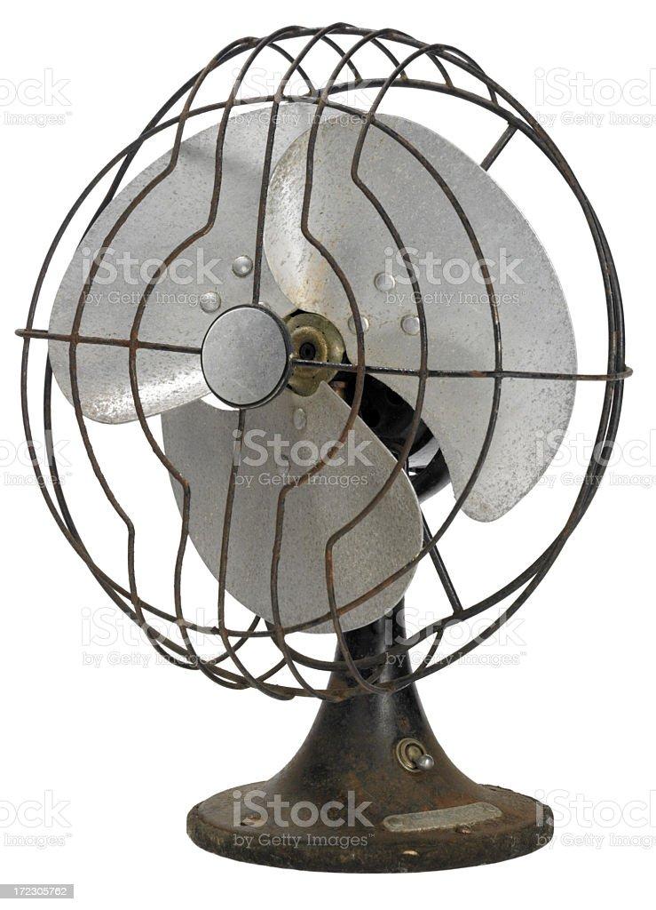 White BG-Vintage fan stock photo