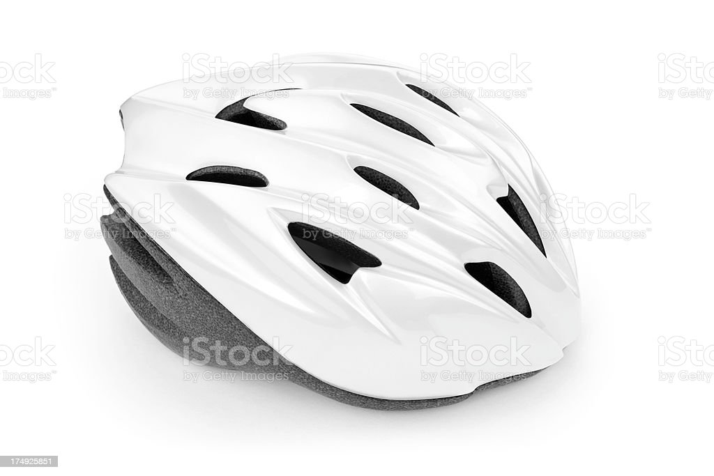 White Bicycle Helmet royalty-free stock photo