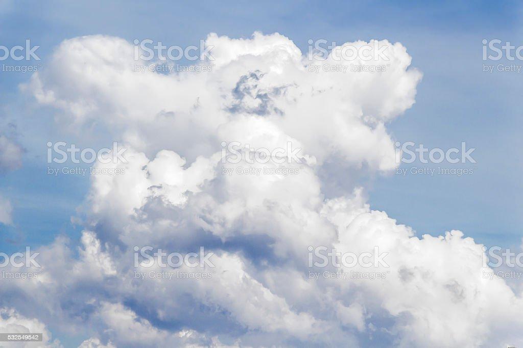 White big cloud stock photo