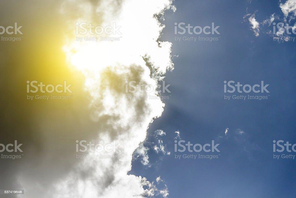 White big clouds stock photo