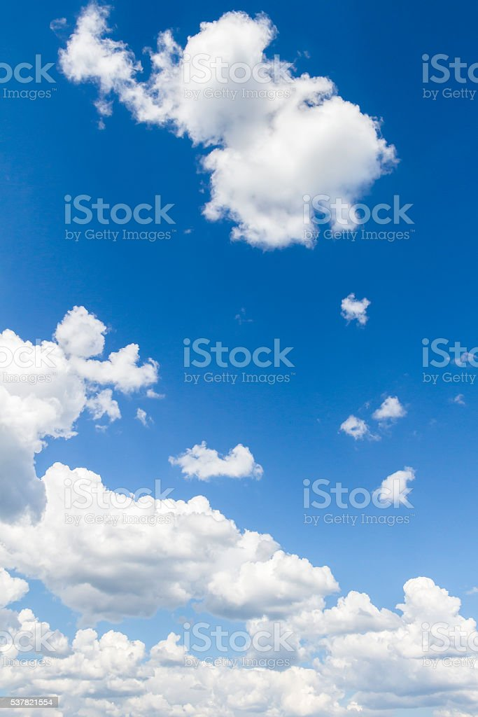White big clouds stock photo