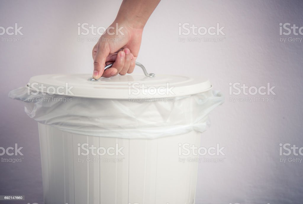 White bin stock photo