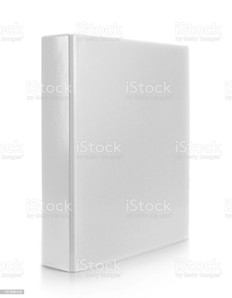 white binder stock photo