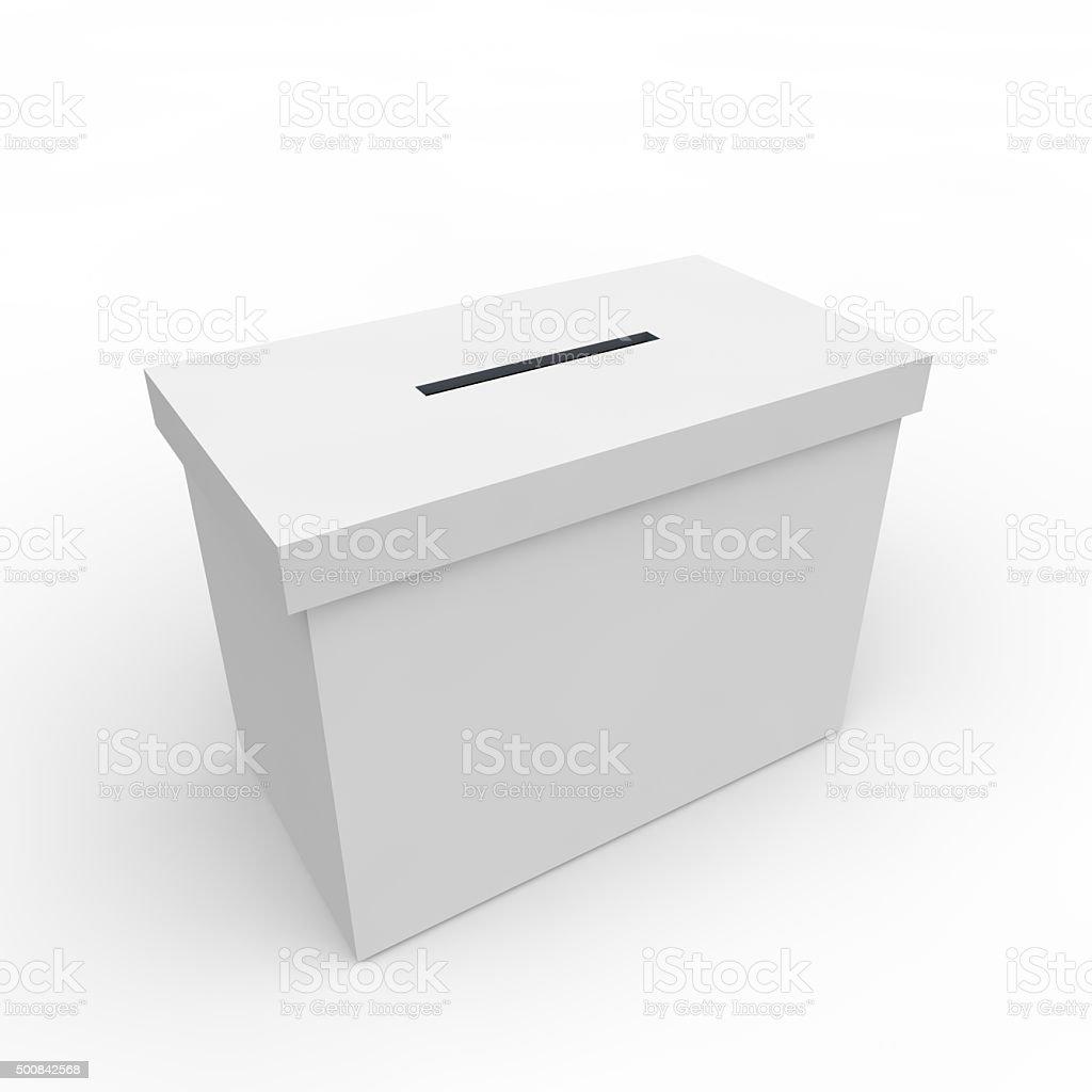 White blank box for voting stock photo