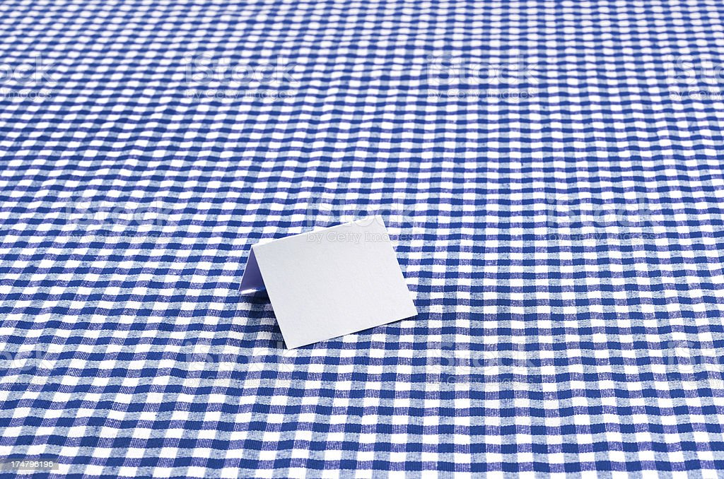 White Blank Card On Table royalty-free stock photo