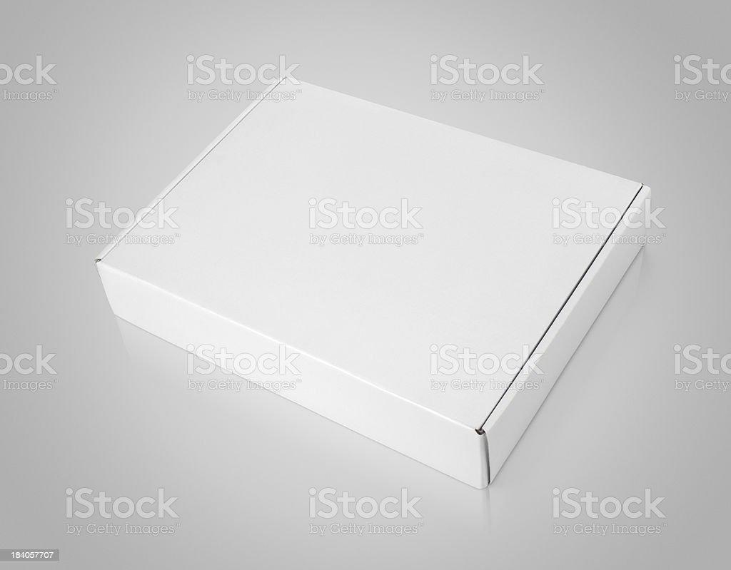 White blank carton box stock photo
