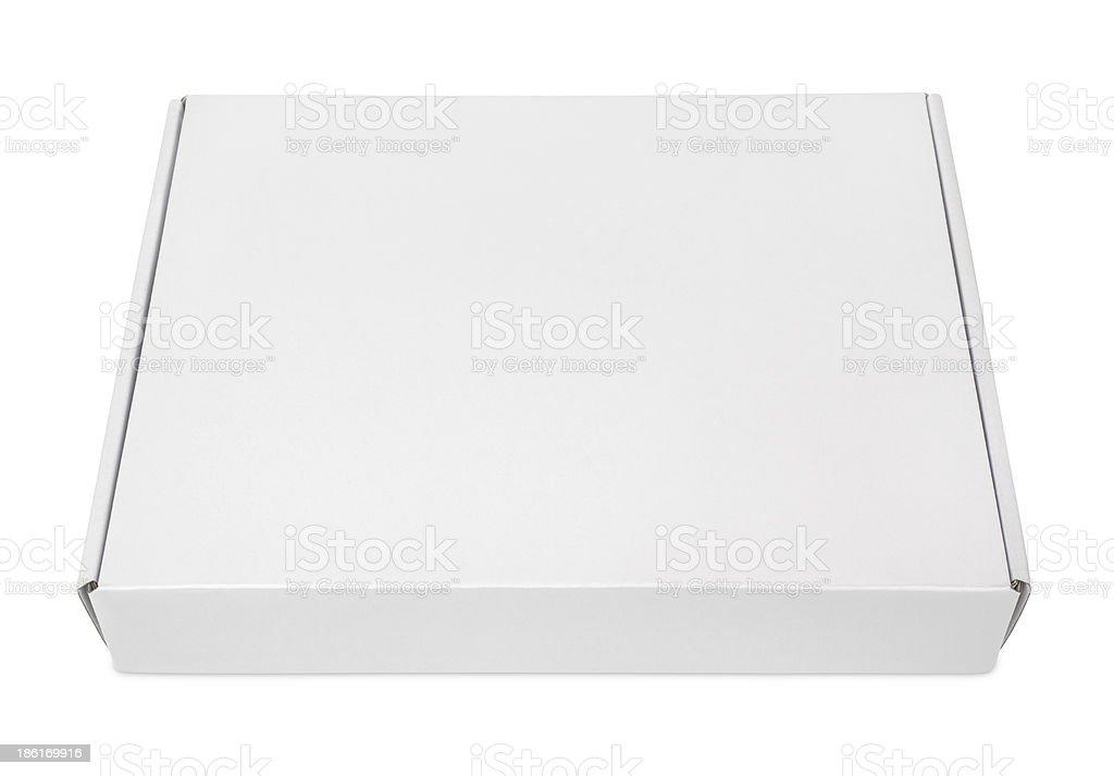 White blank carton pizza box stock photo