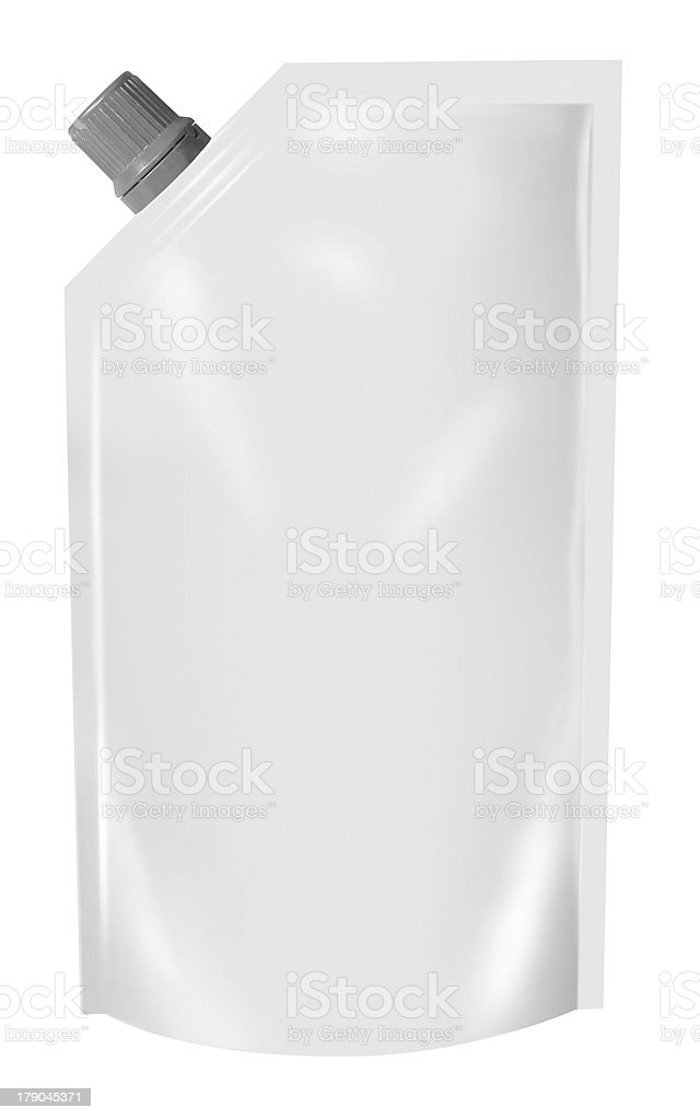 White Blank Doy Pack royalty-free stock photo