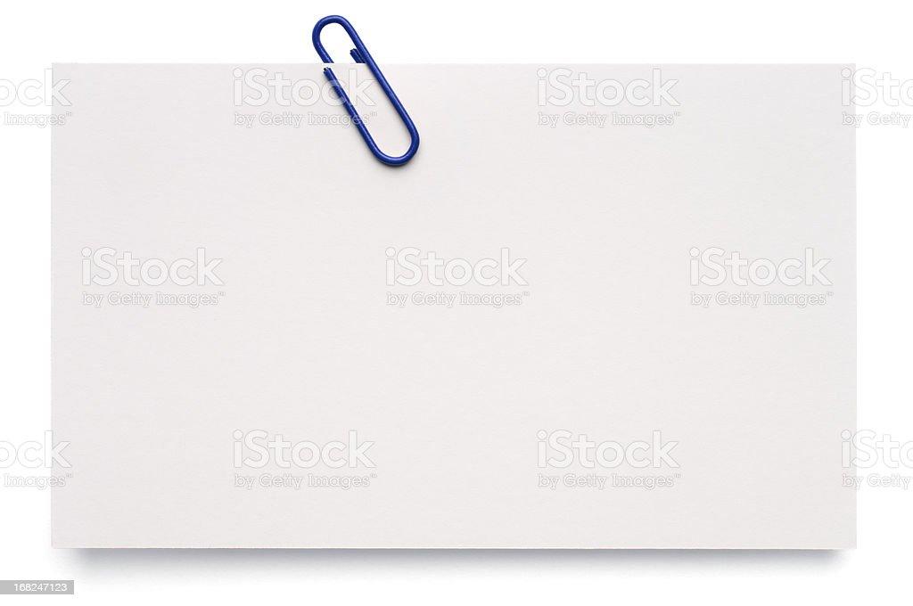 White blank index card stock photo