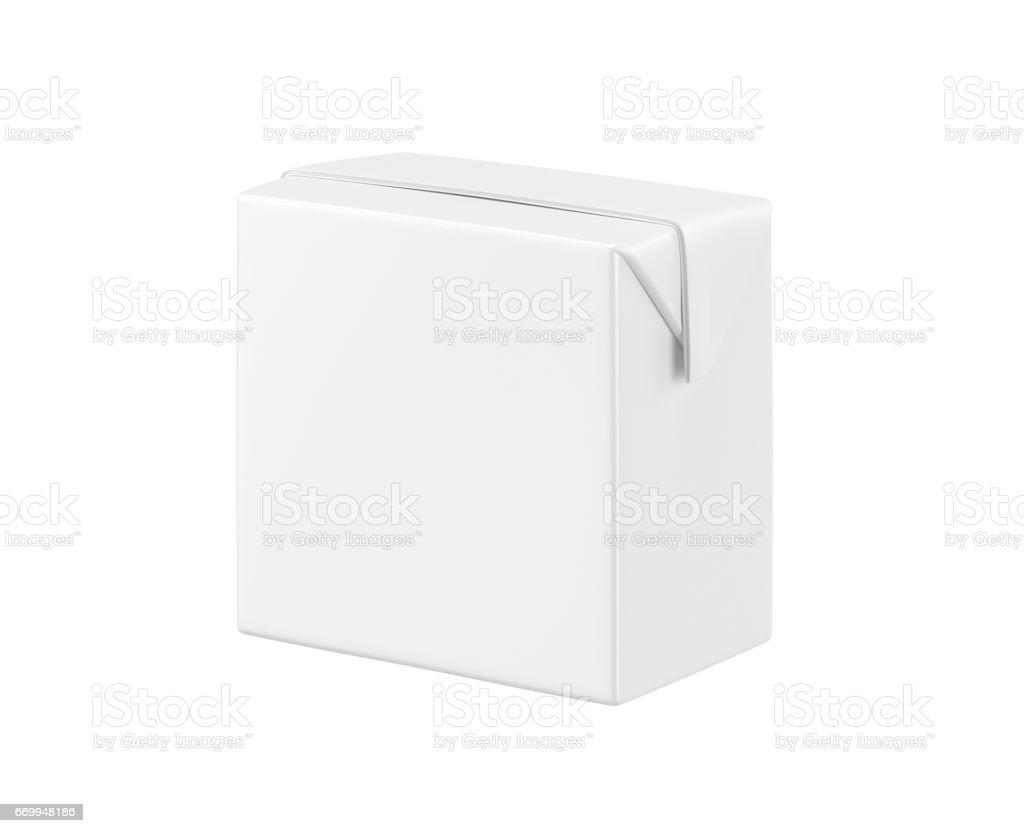 White blank milk box stock photo