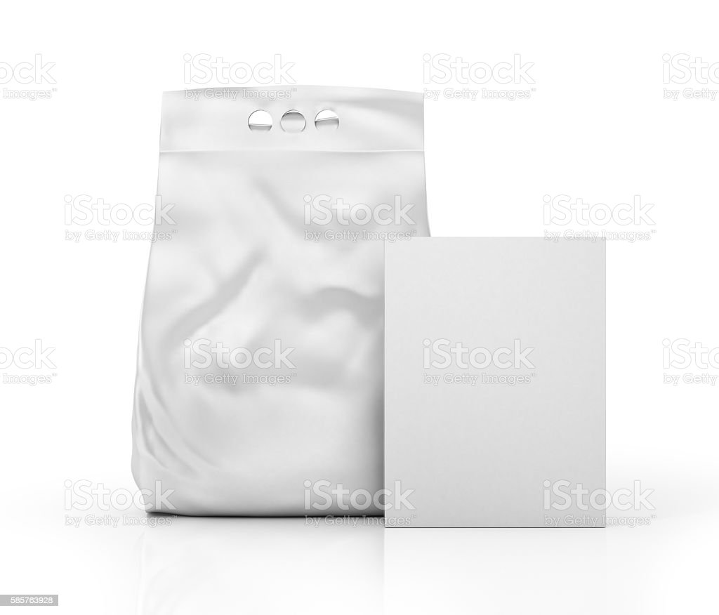 White blank packages for washing powder. stock photo