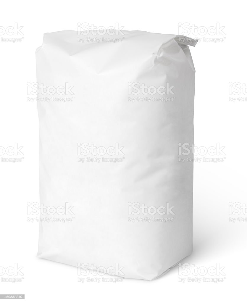 White blank paper bag package of salt stock photo