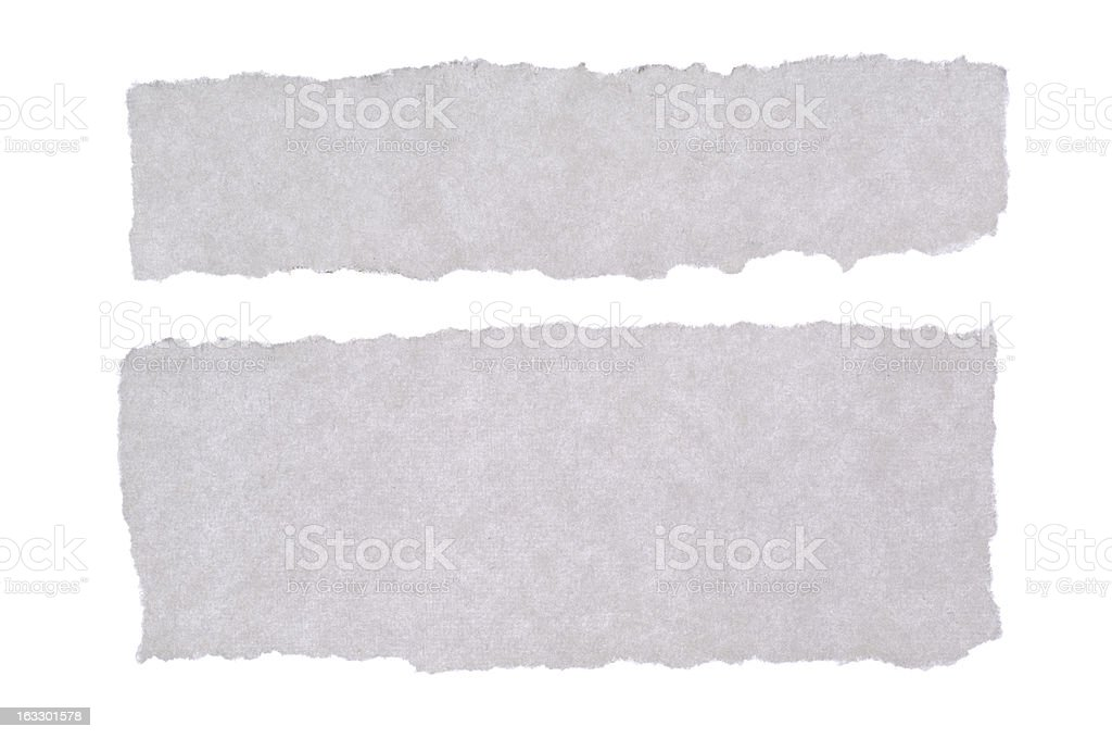 White blank paper tears royalty-free stock photo