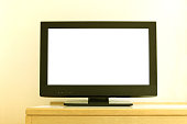 white blank screen of television
