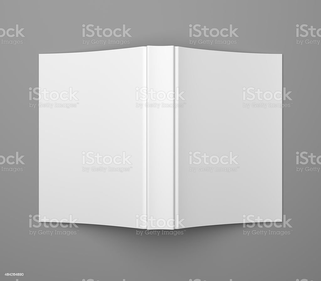 White blank soft cover book template stock photo