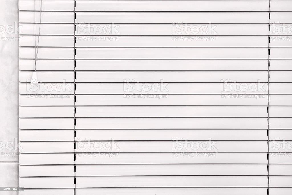 White blind. stock photo