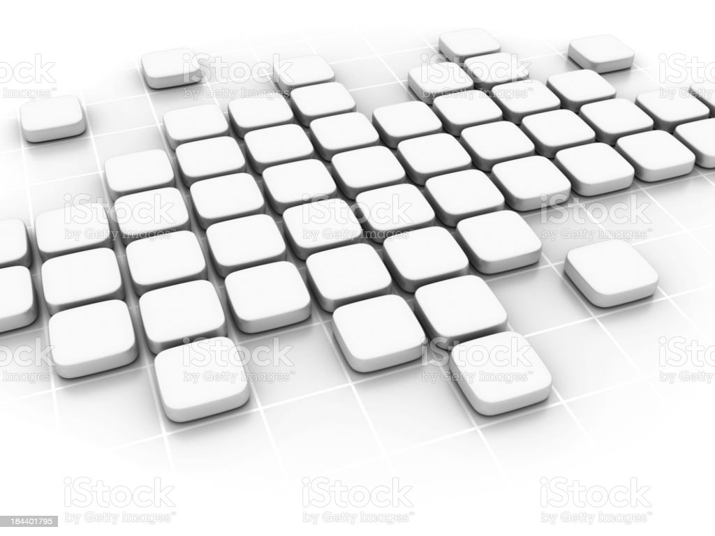 3D white blocks forming an abstract background royalty-free stock photo