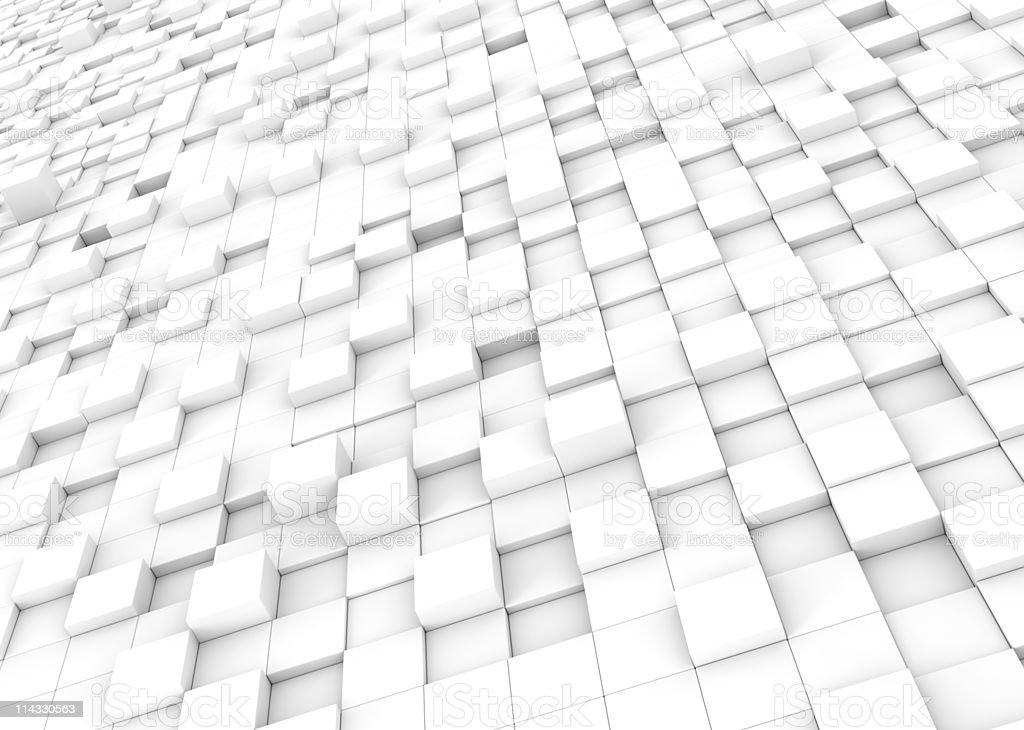 White Blocks Pattern Background royalty-free stock photo