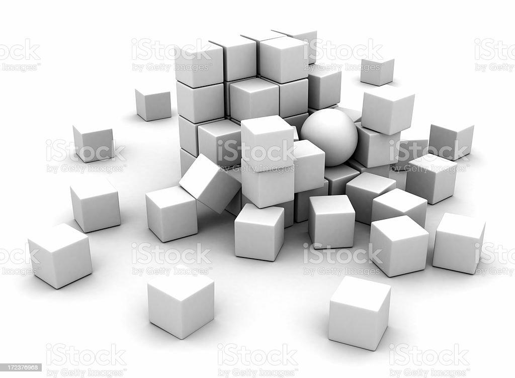 White blocks royalty-free stock photo