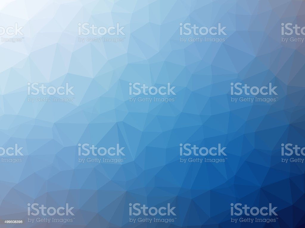 White blue gradient polygon shaped background stock photo