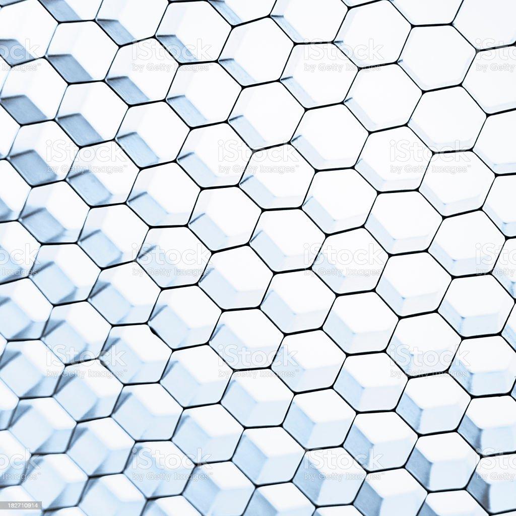 White blue honeycomb grid mesh background royalty-free stock photo
