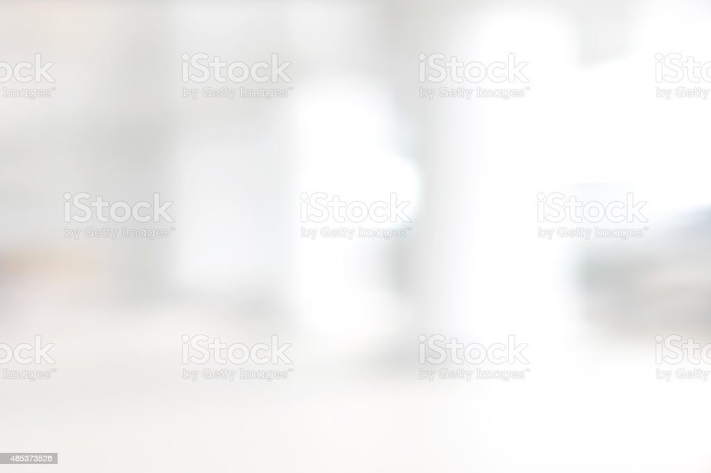 White blur abstract background from building hallway stock photo