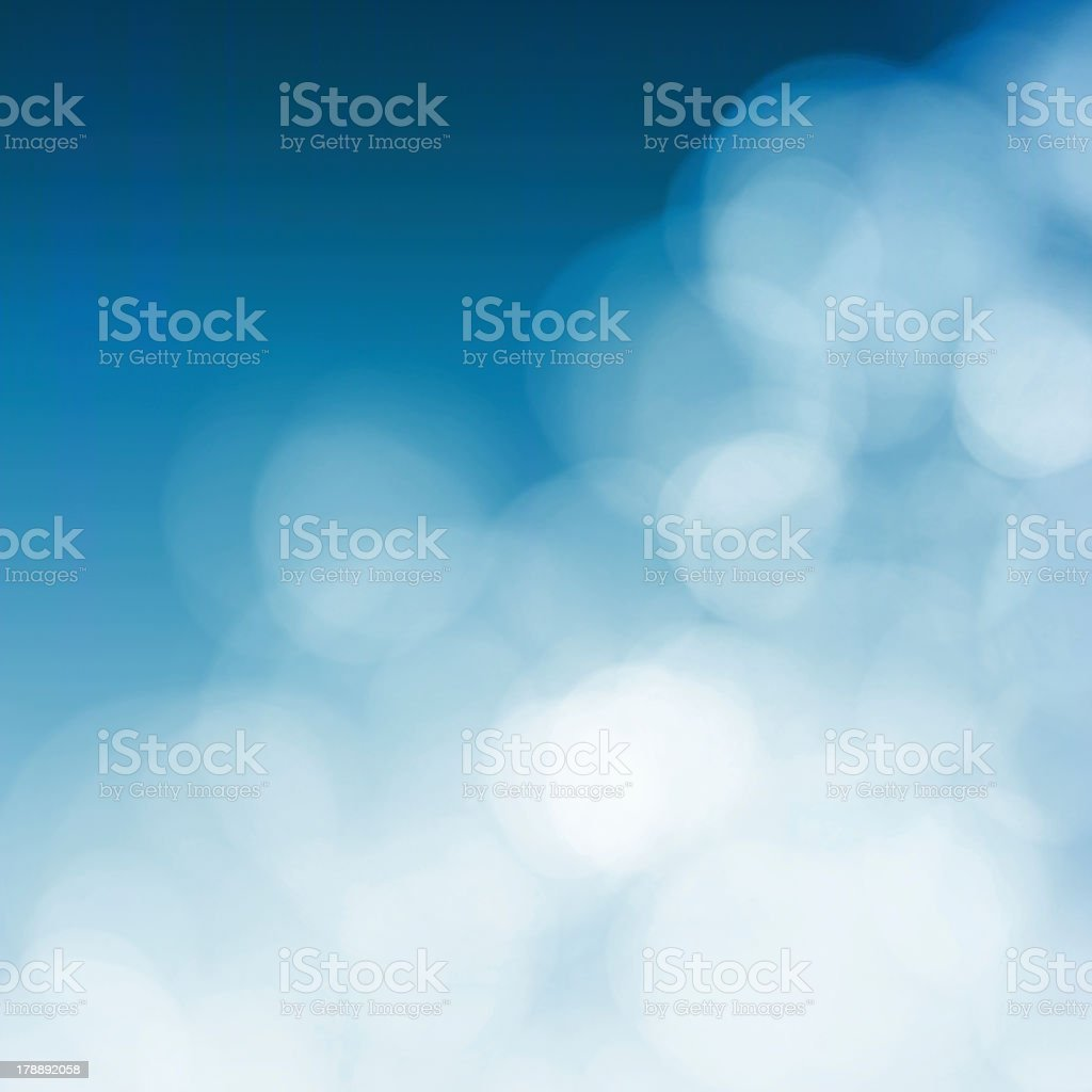 White blurs on blue background stock photo