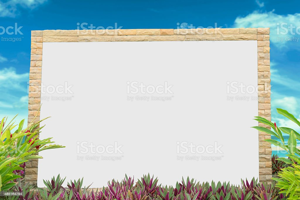 White board in nature royalty-free stock photo