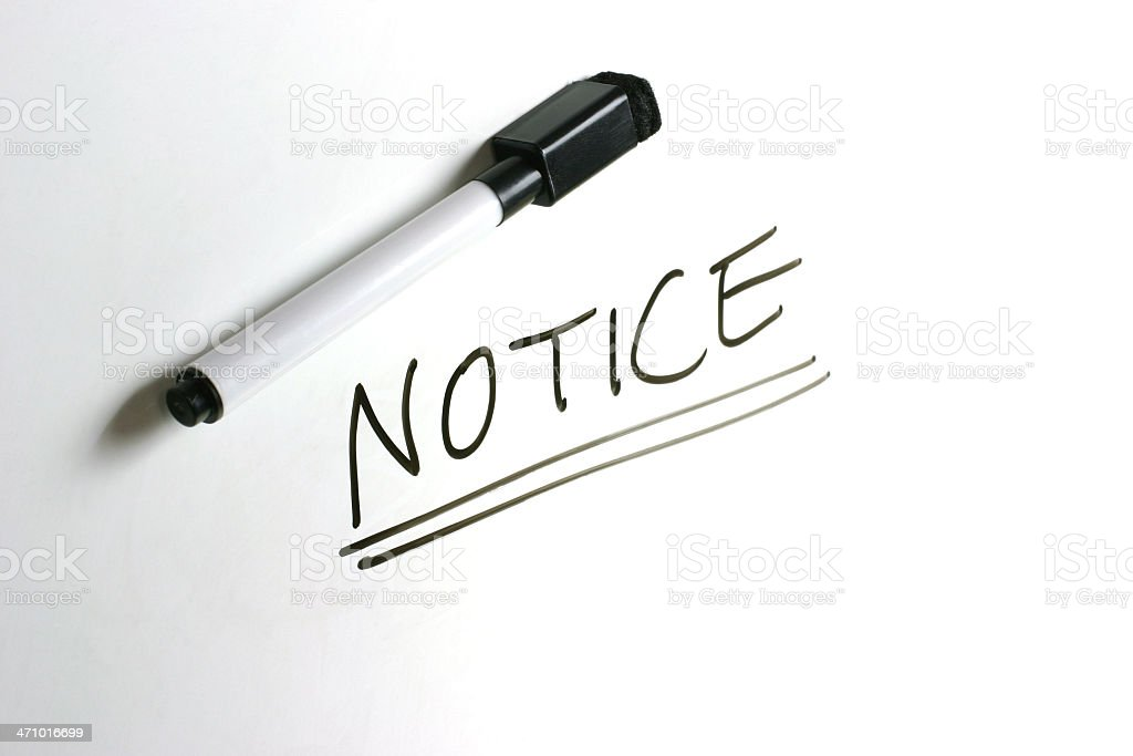 White Board - Notice royalty-free stock photo
